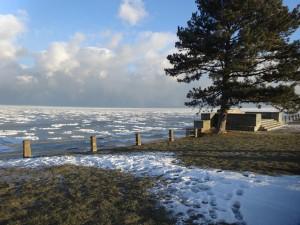 Озеро Онтарио на границе США и Канады