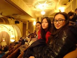 В театре на Бродвее