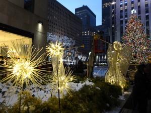 Rockefeller Center и главгая ёлка Нью-Йорка